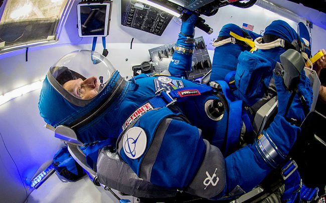 The Boeing company introduced a lightweight space suit new generation
