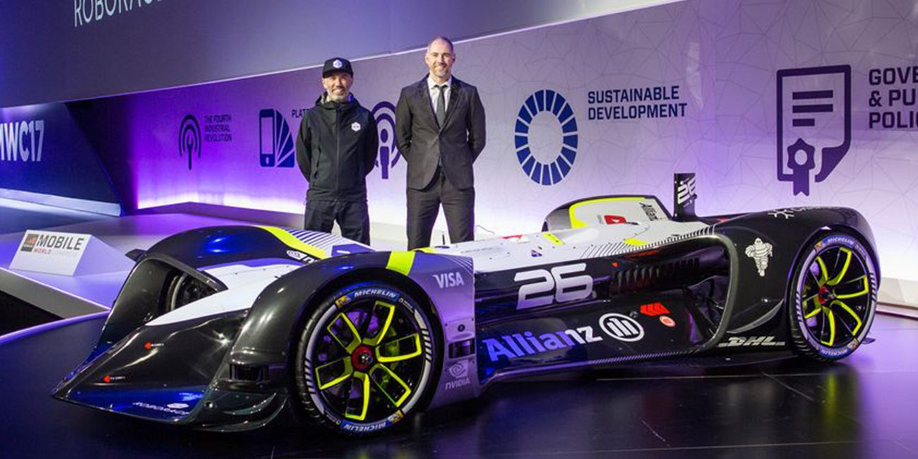 The company Roborace showed his unmanned car