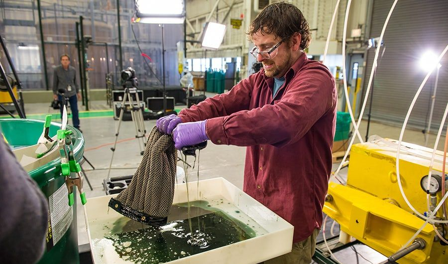 Created a sponge capable of cleaning the ocean from oil and oil products