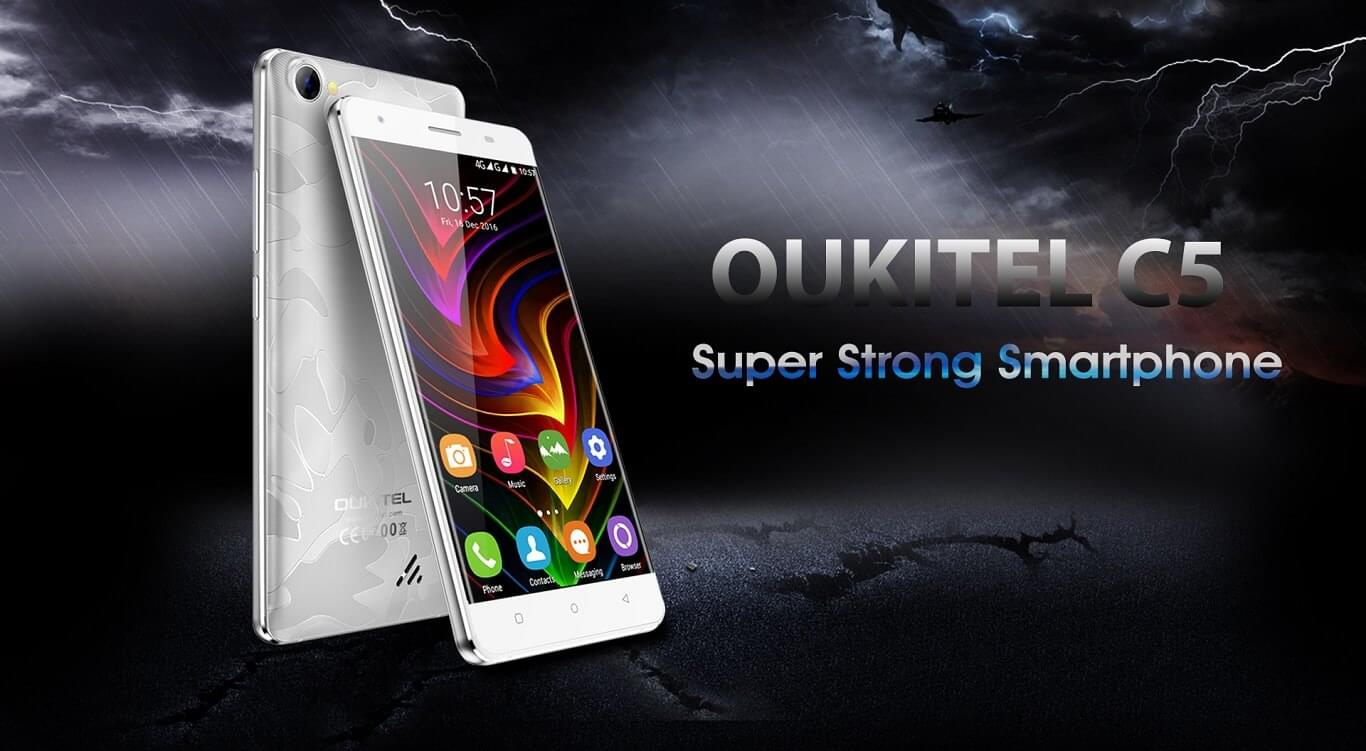 OUKITEL C5 — secure smartphone at an unbelievable price