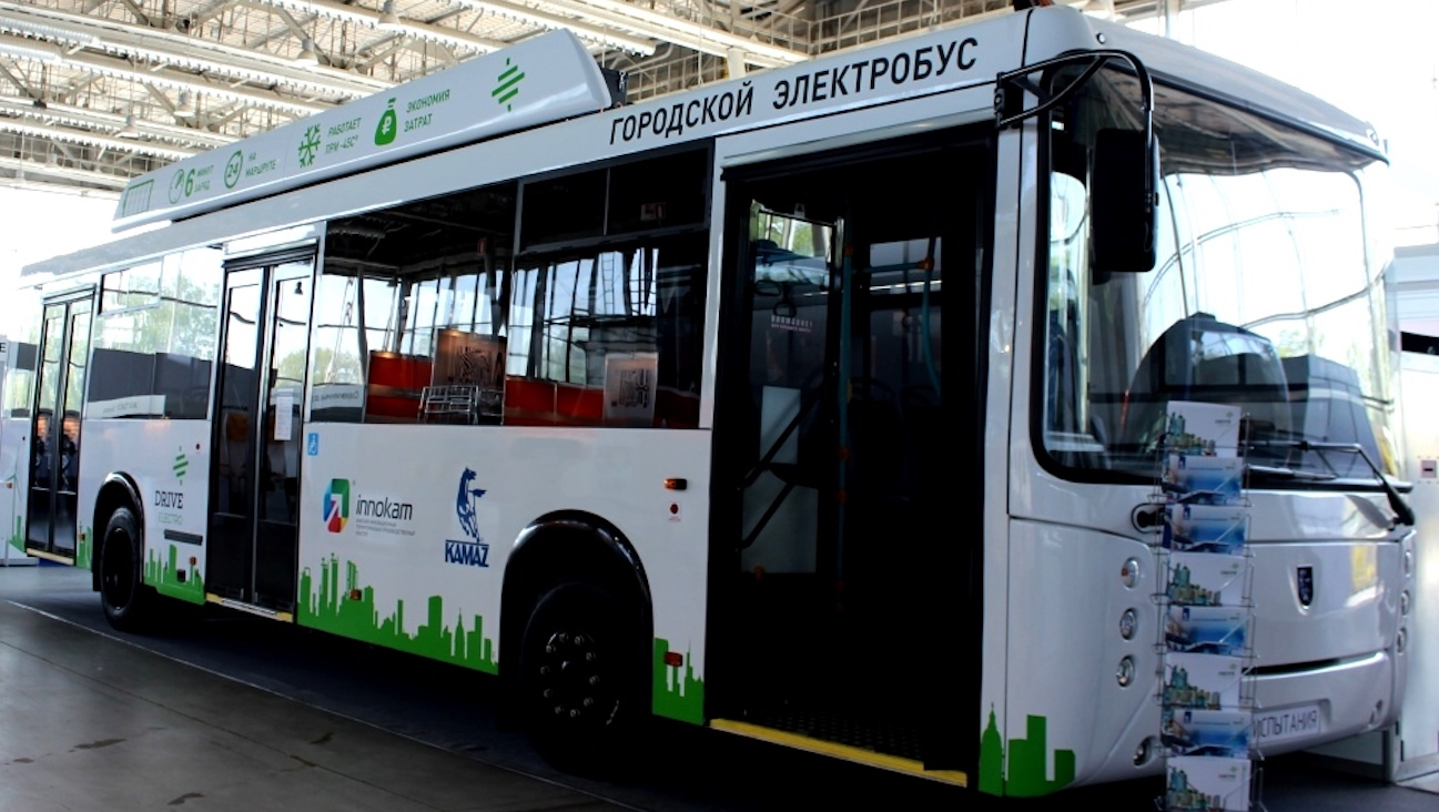 KAMAZ presented the ultrafast charge station for electric buses