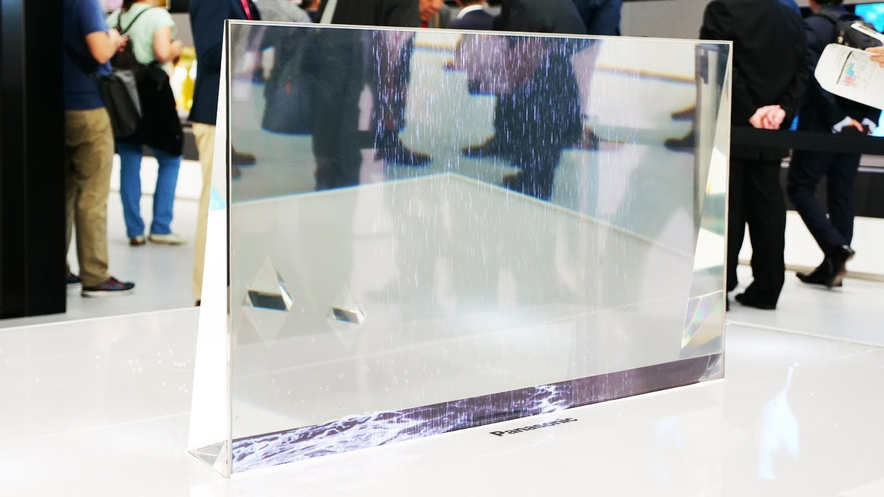 #video | Panasonic showed off a transparent OLED TV