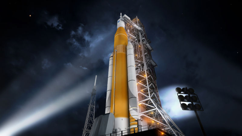 NASA is trying to reduce the cost of production and operation of its megarace SLS