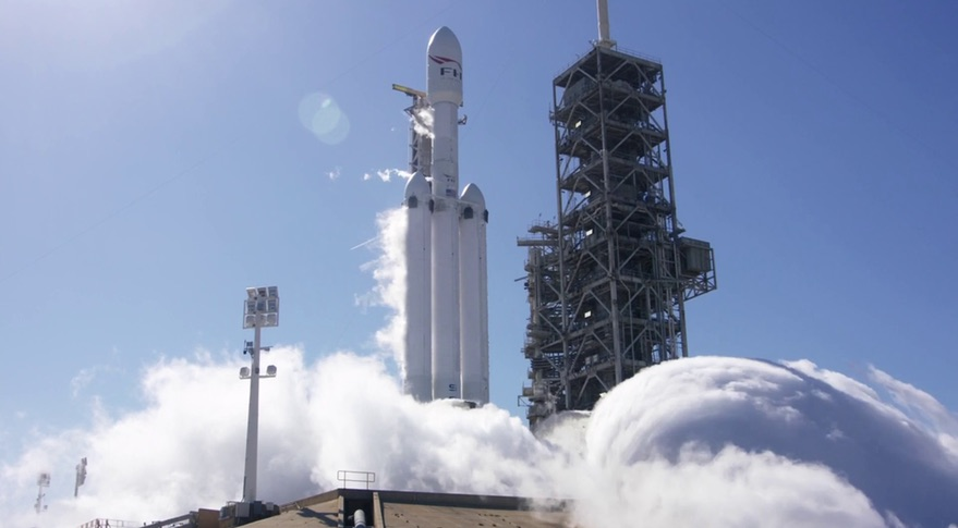 SpaceX conducted a successful static burn of the rocket engines, the Falcon Heavy