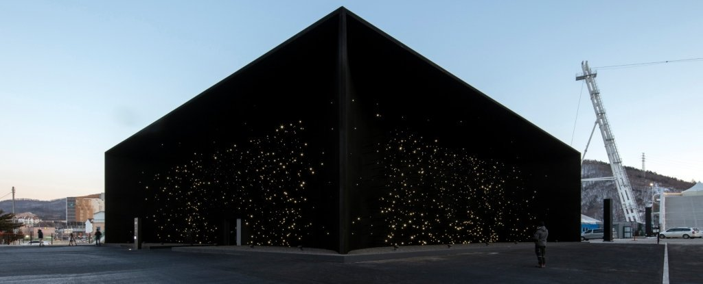 In South Korea, built the black building in the world