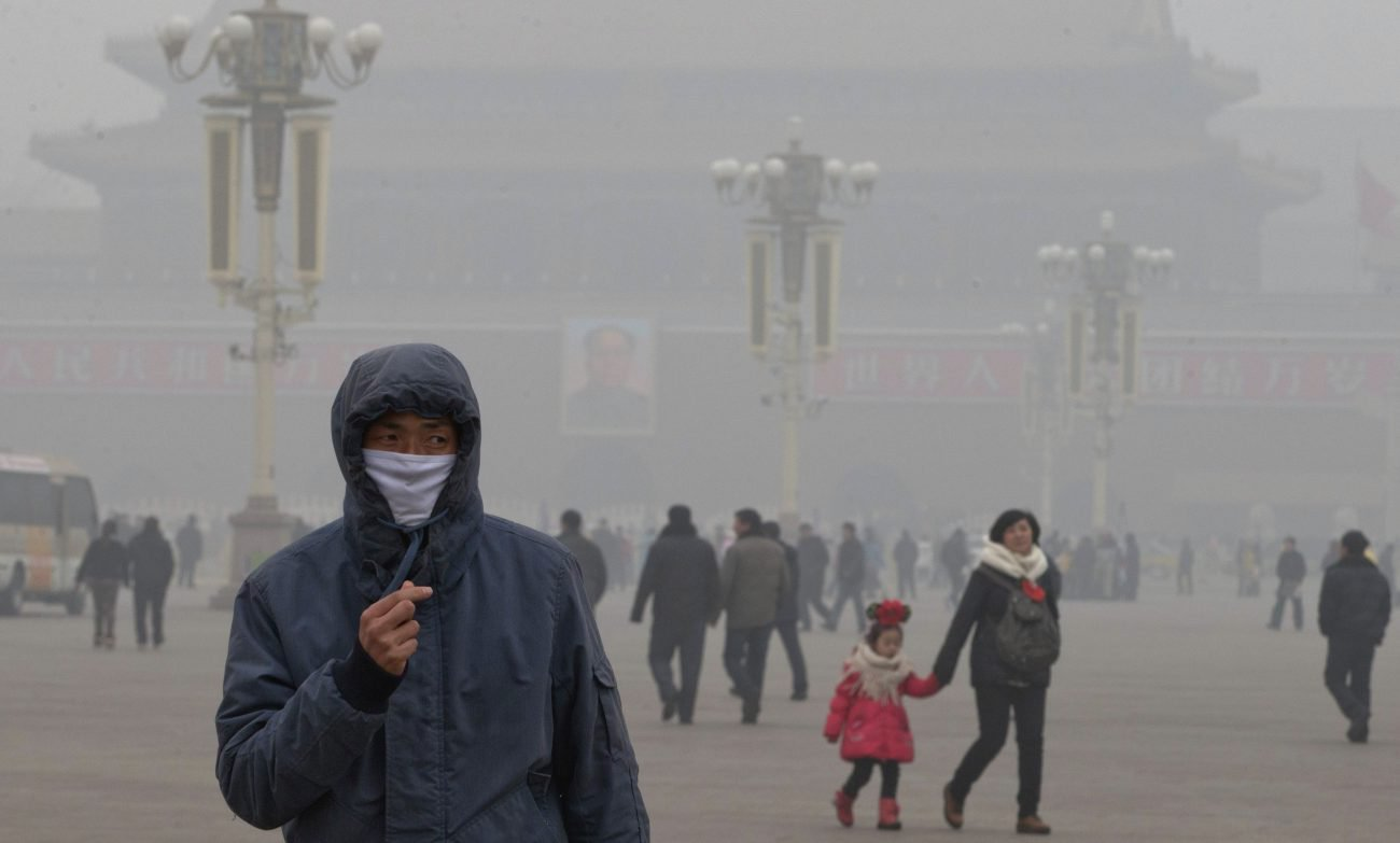 In China launched a giant cleaner from the smog on solar energy