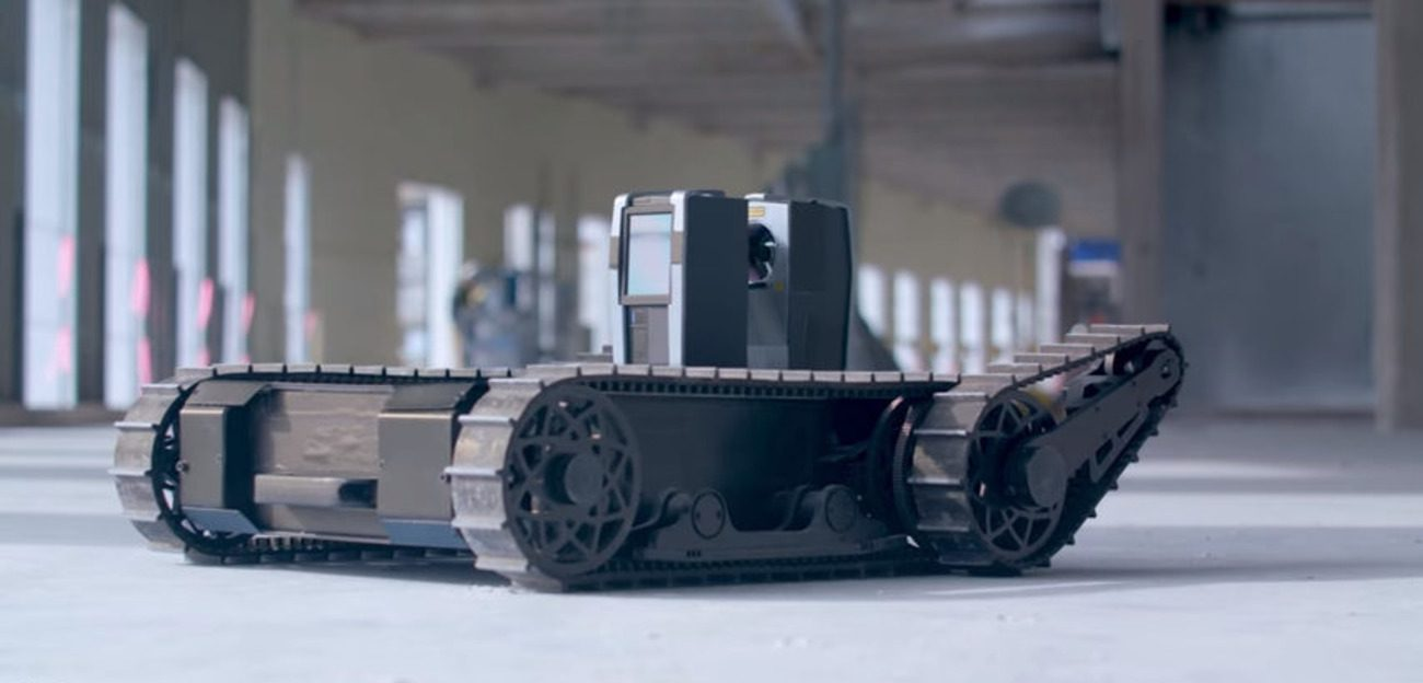 Crawler drone will prevent emergency situations at the construction site