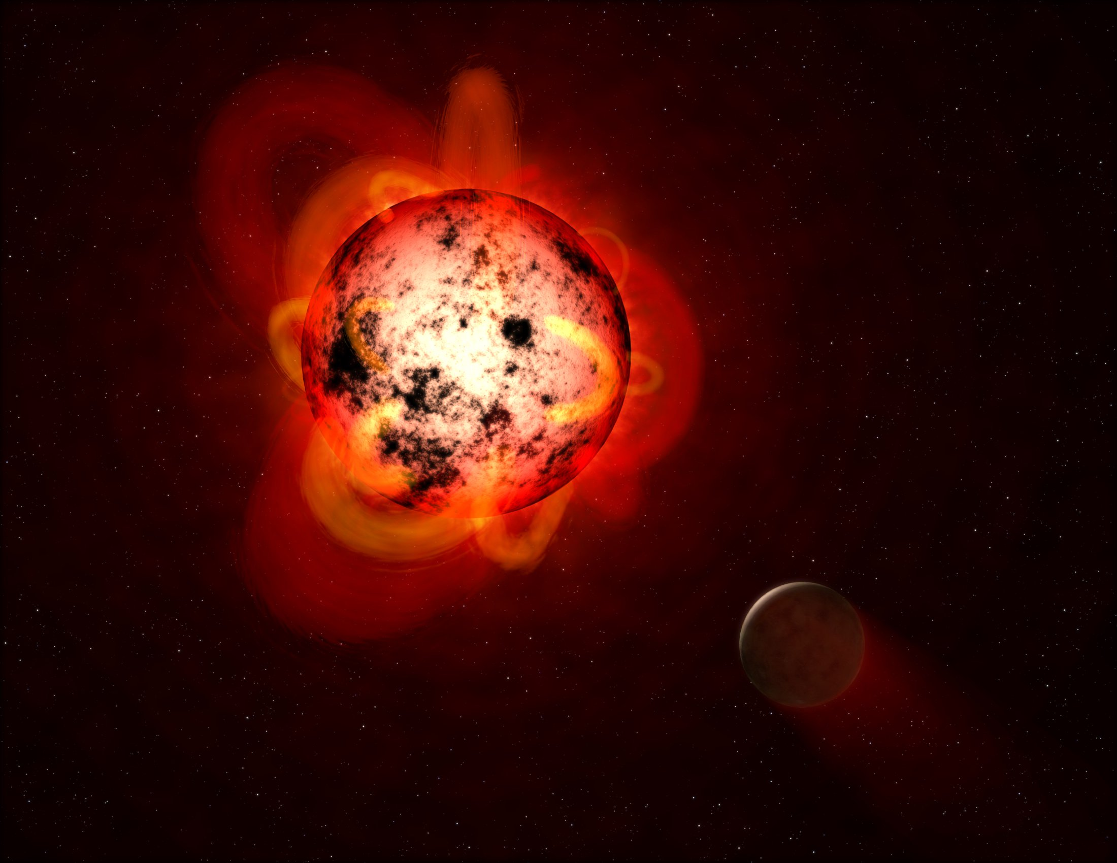 Another star system was sterilized from any possible life