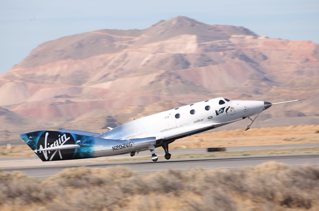 New spaceplane Virgin Galactic conducted the first piloted flight in a rocket-powered