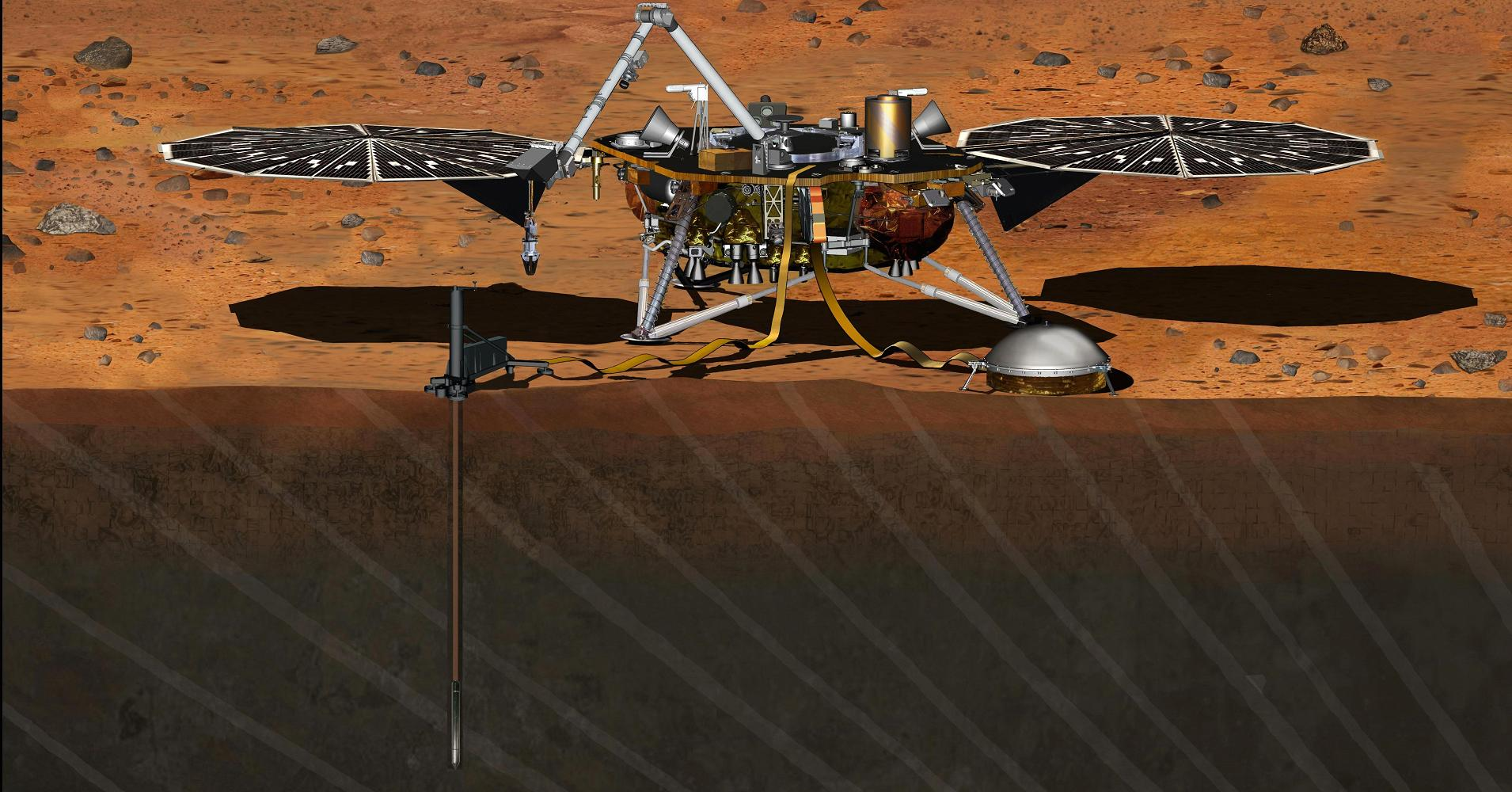 The InSight module successfully went to Mars