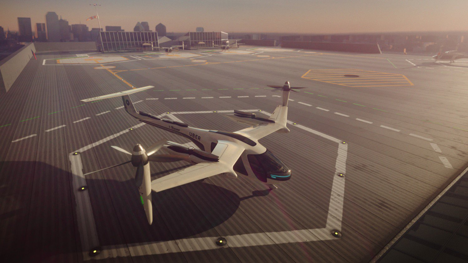The architects designed six stops of the future for the flying Uber