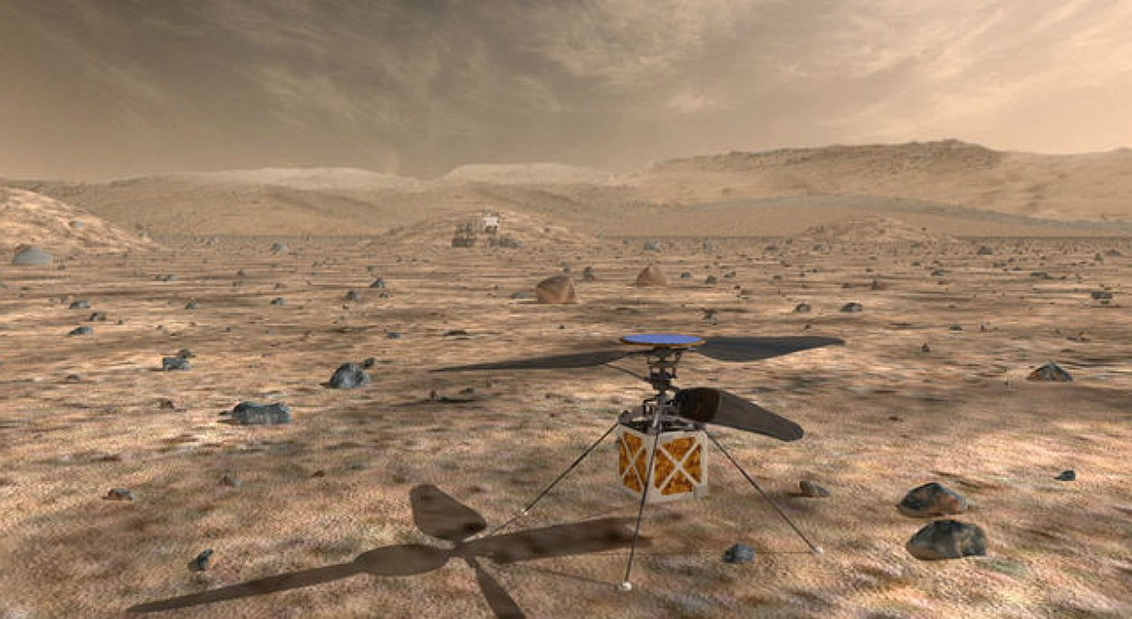 Solved: NASA will send a helicopter to Mars