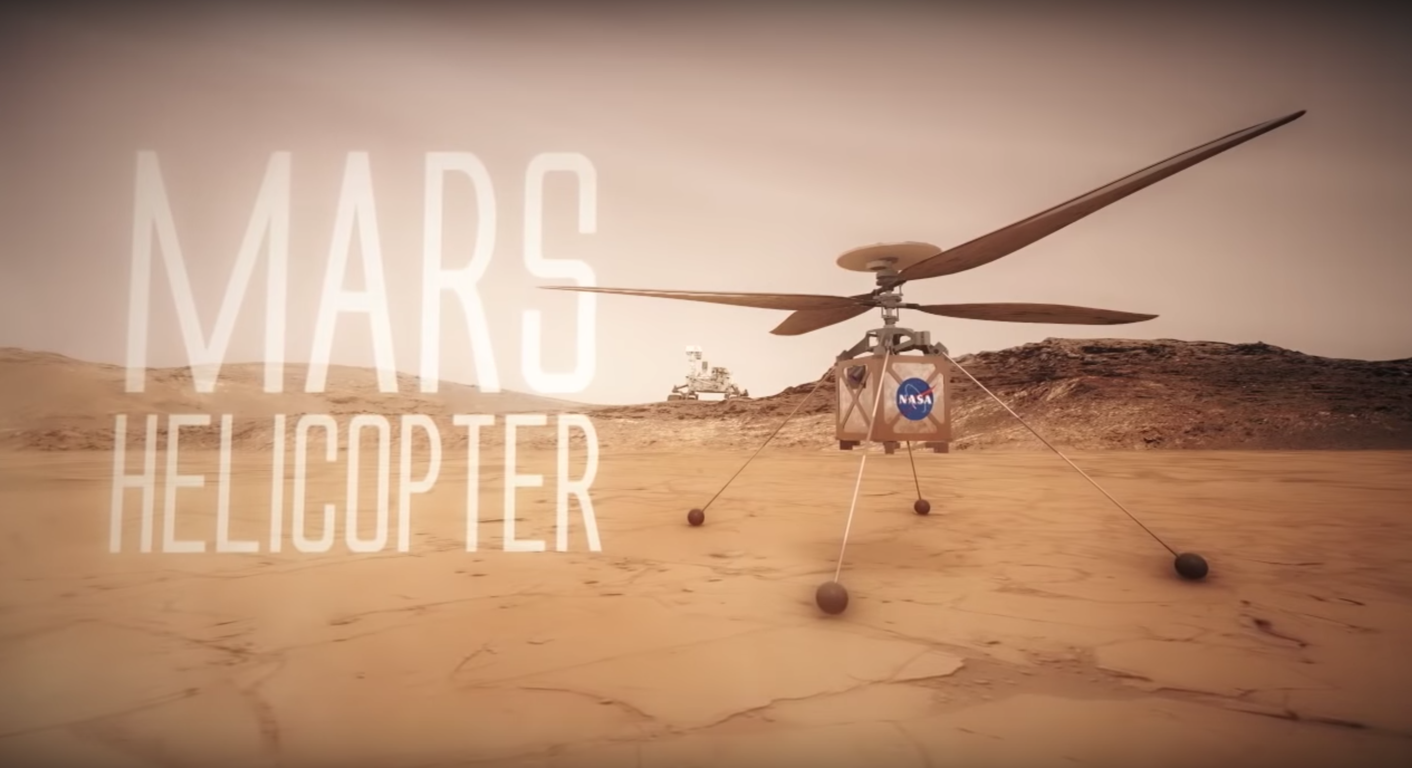 As will be flying the Mars helicopter NASA?