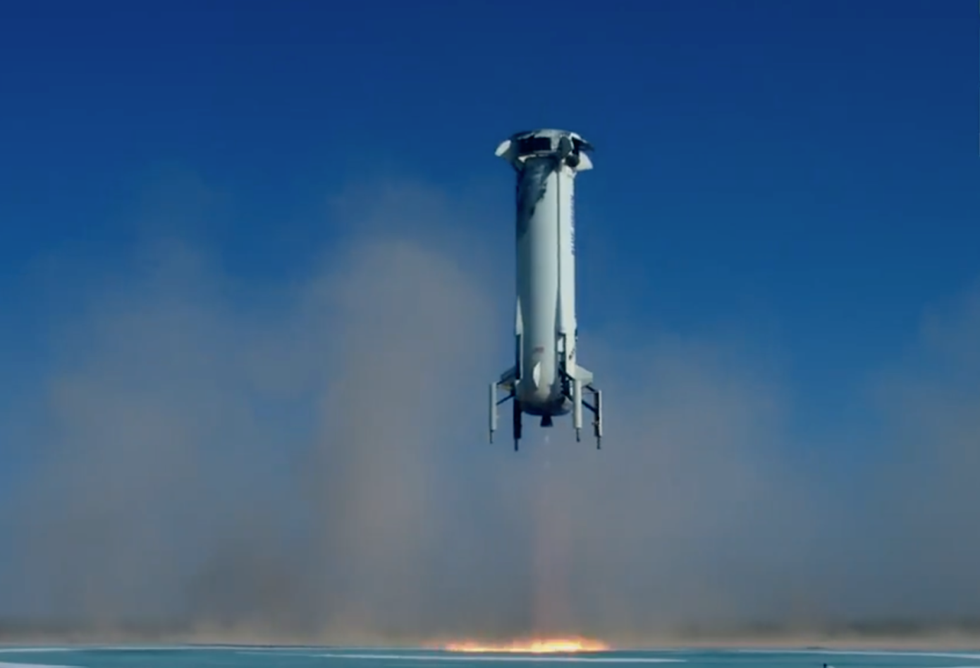 Blue Origin successfully landed the rocket and the capsule with the crew after the test run
