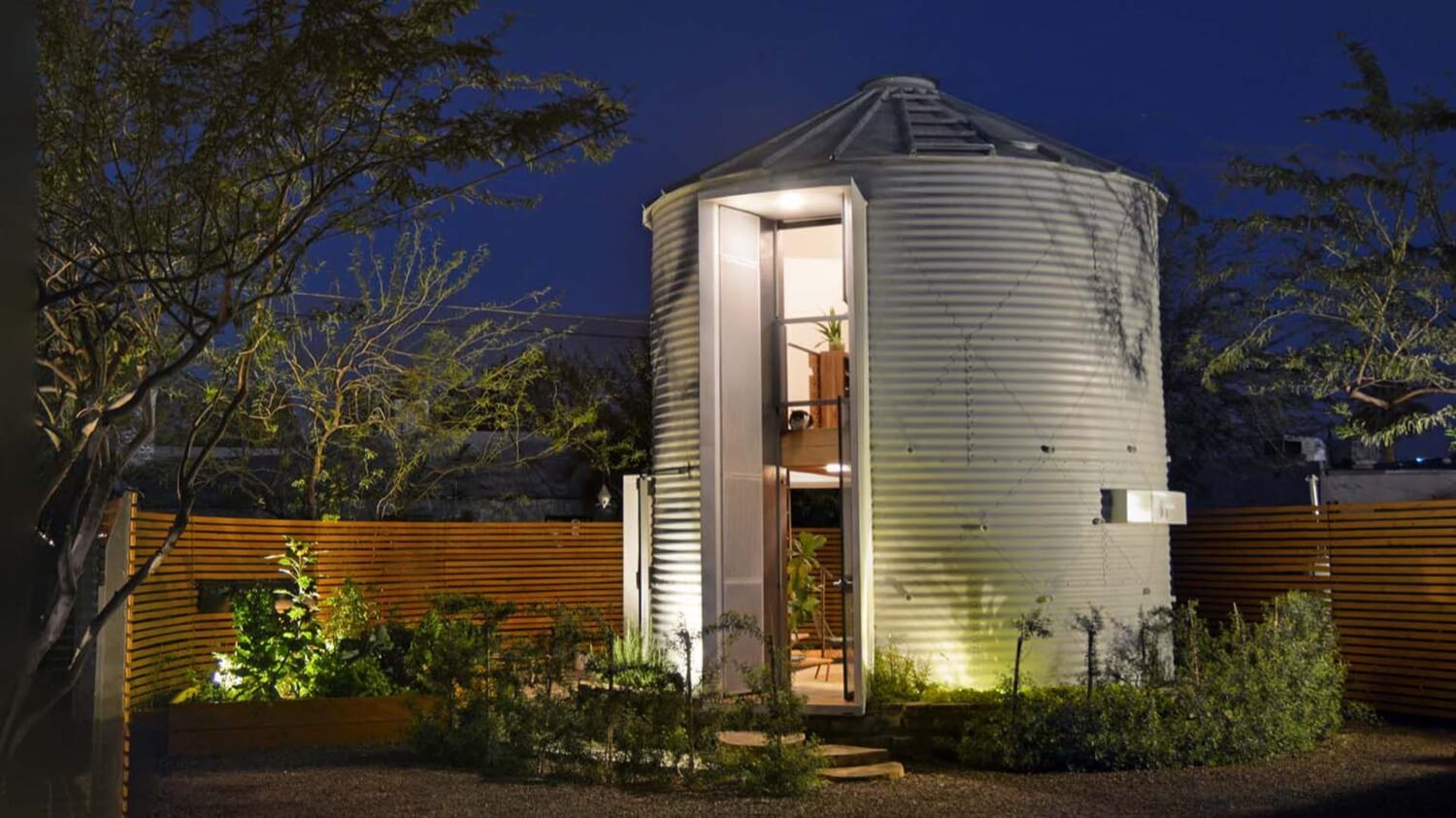 The couple turned a storage for grain in luxury home