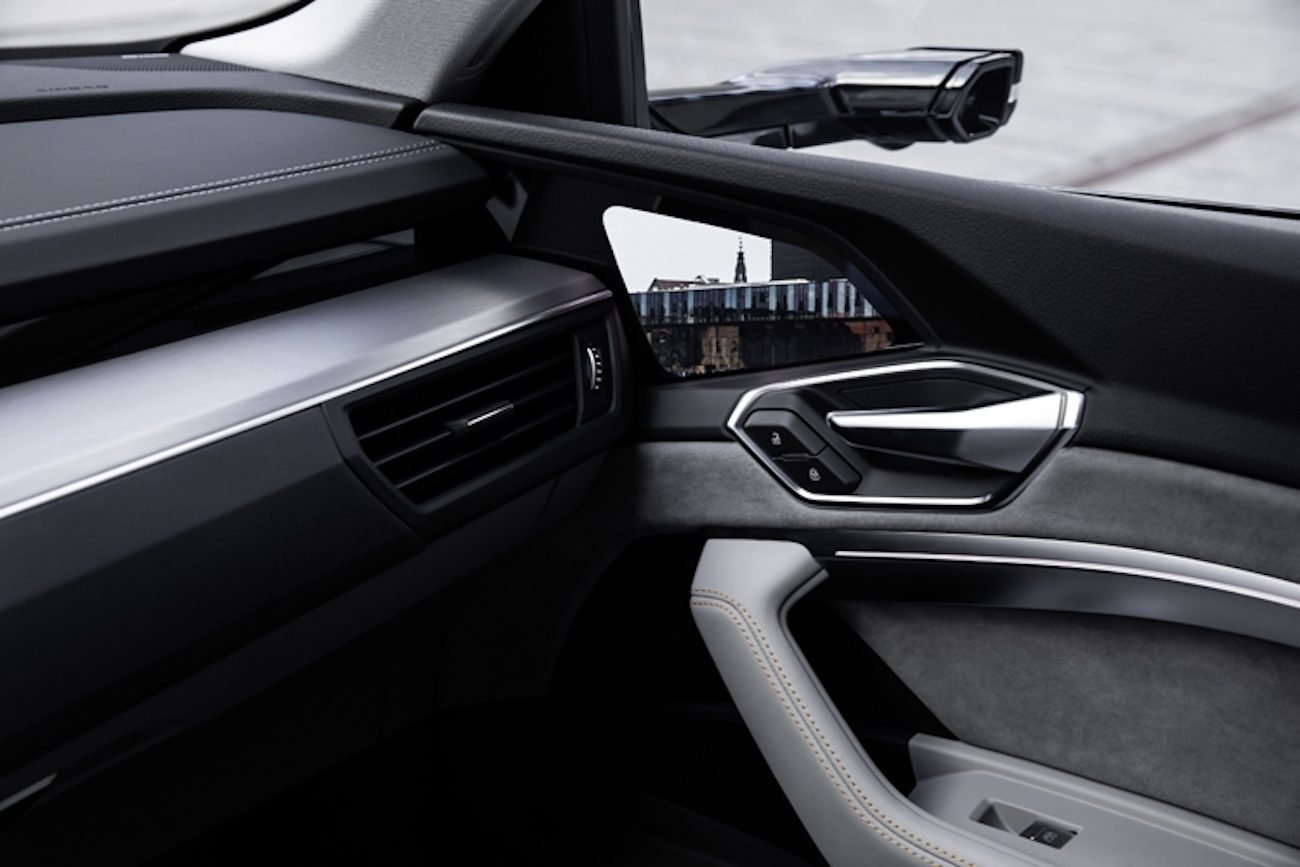 Audi has presented a car without mirrors. But with screens instead