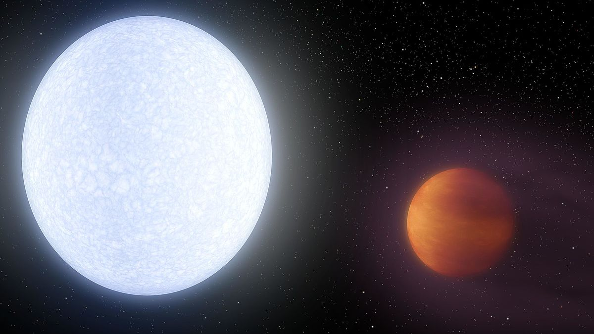 On this superhot exoplanet — a real