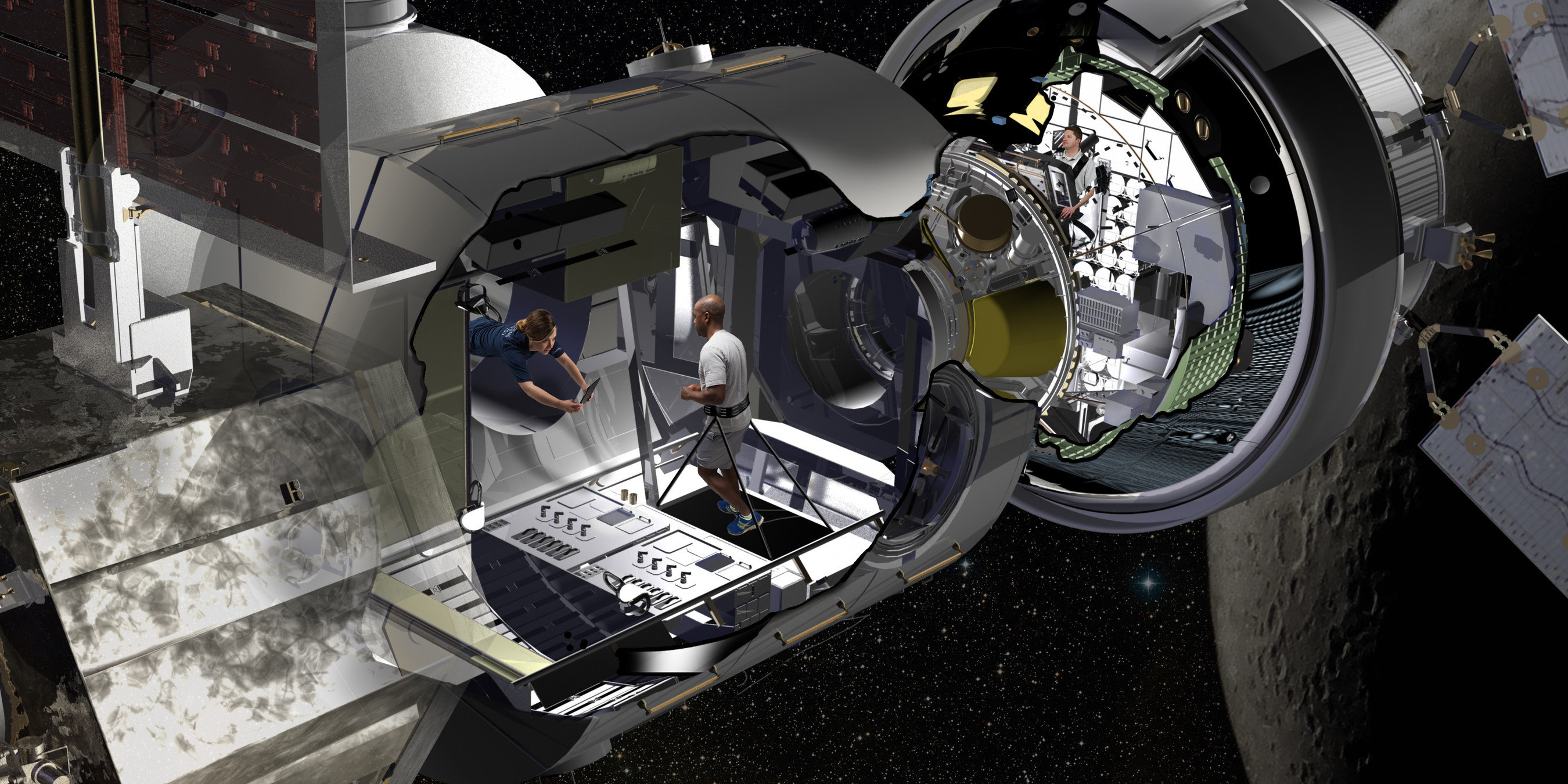 Lockheed Martin showed where the astronauts will live during missions into deep space