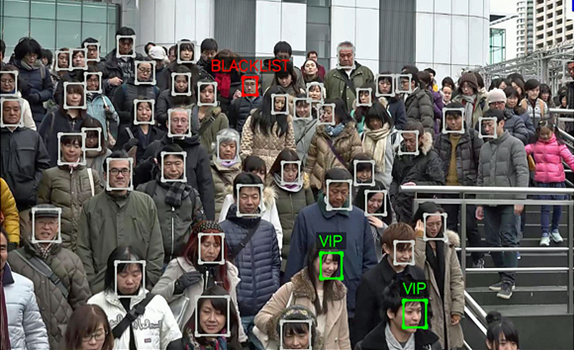 The facial recognition system uses for the first time at the Olympic games in Tokyo