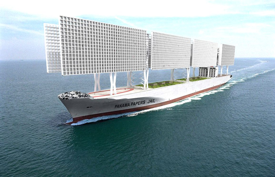 The French architects have proposed to build a ship-prison