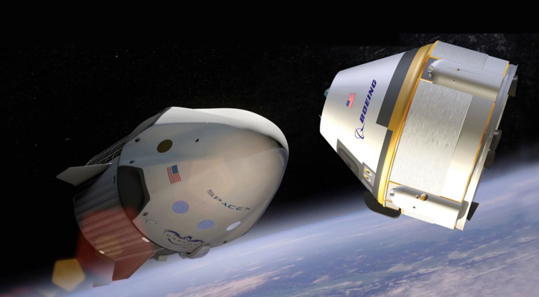 NASA will announce the first spacecraft SpaceX Crew Dragon and Boeing CST-100 Cockpit