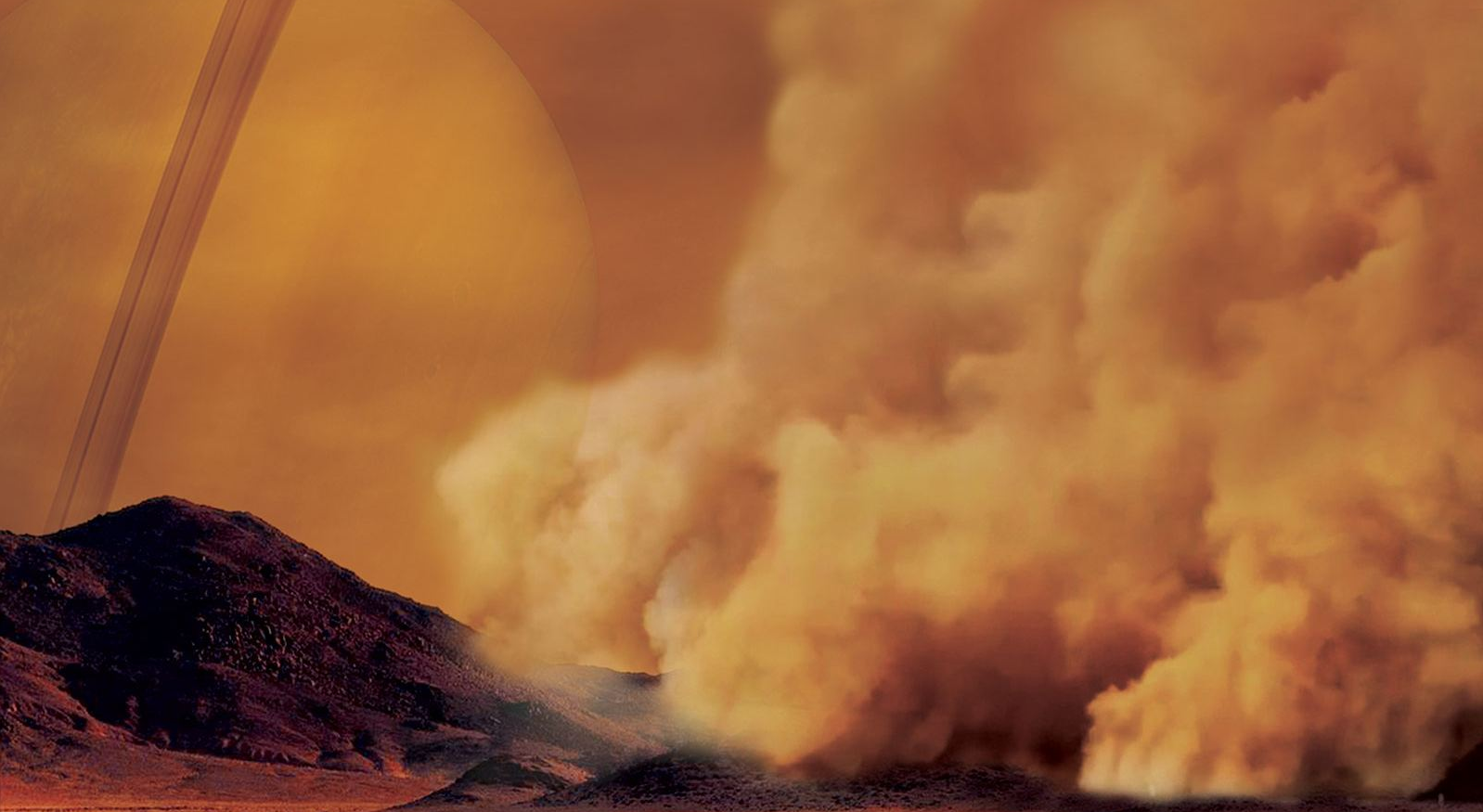 First discovered dust storms on Titan show its similarity with the Earth