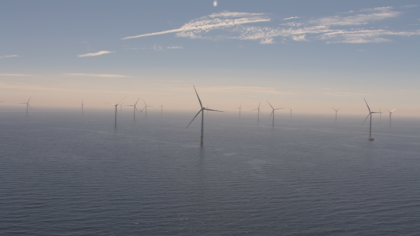 Off the coast of great Britain earned the world's largest wind farm