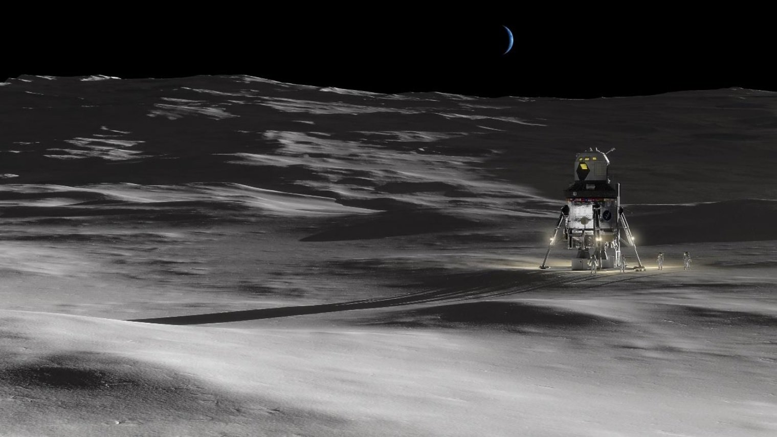 Lockheed Martin has introduced the concept of the lunar landing module for the station Gateway
