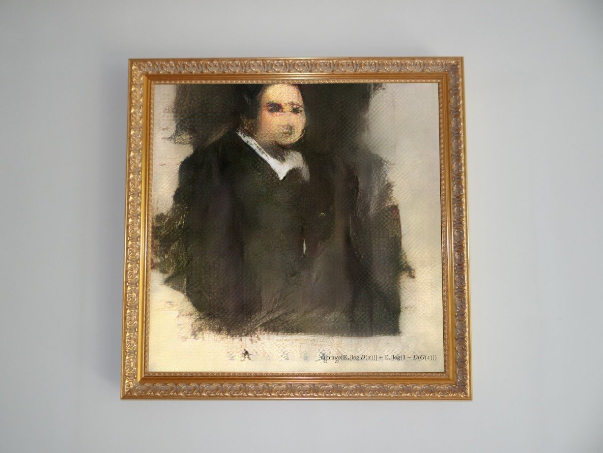 Written artificial intelligence, the painting was sold for almost half a million dollars