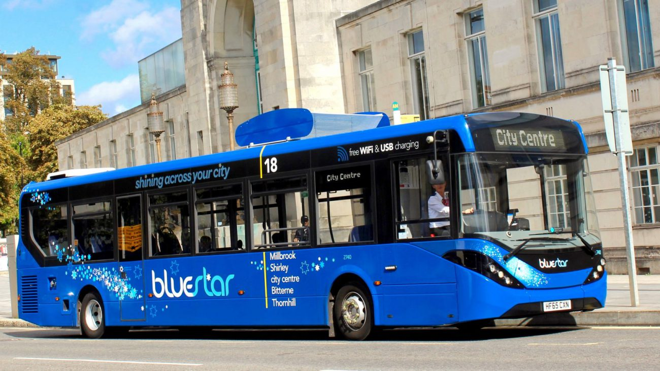 In the UK, has launched the bus, cleaning the air