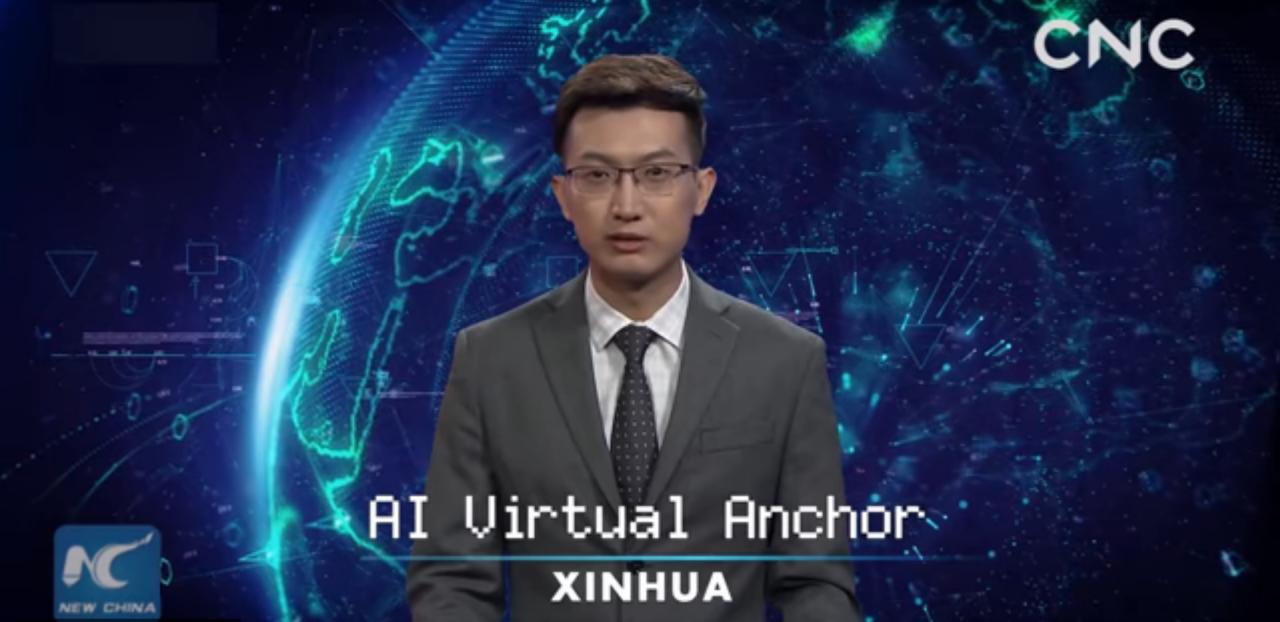 The first artificial anchorman debuted in China