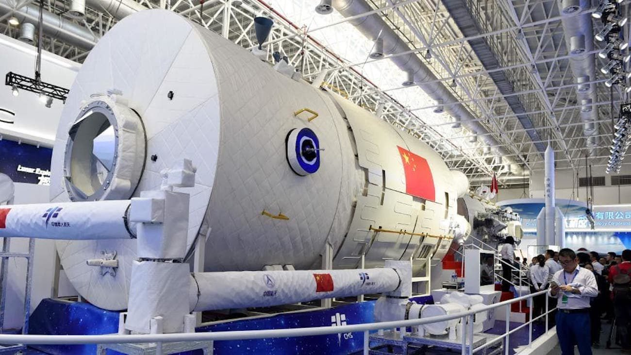 China showed a model of their future space station
