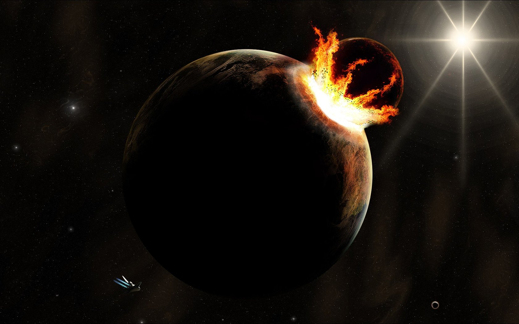 Exoplanet is evaporating. And in the cosmic sense very quickly!