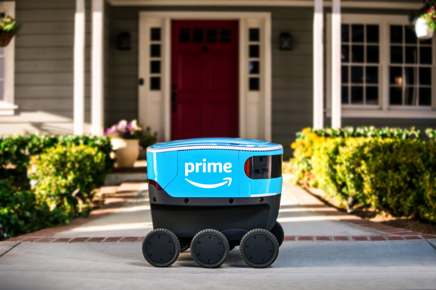 Amazon began field-testing their robots-the delivery guy, Scout
