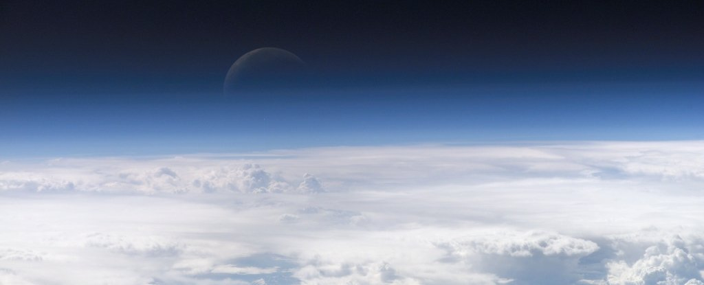 The Earth's atmosphere were larger than previously thought. It is outside the orbit of the moon