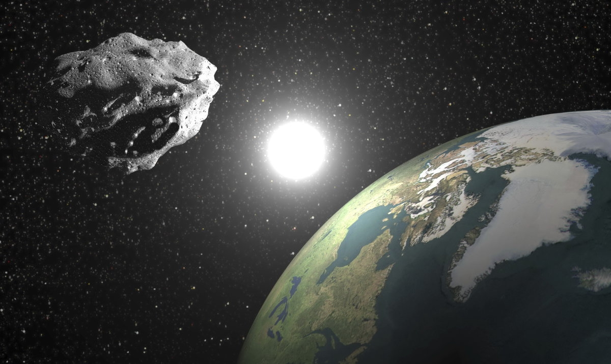 Between the earth and the Moon on 25 January flew by asteroid the size of a truck