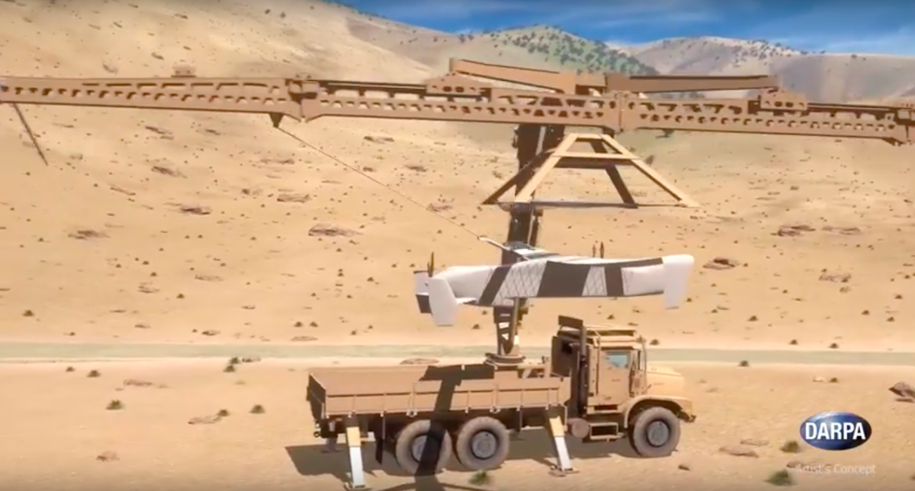 DARPA has developed a capture device drones
