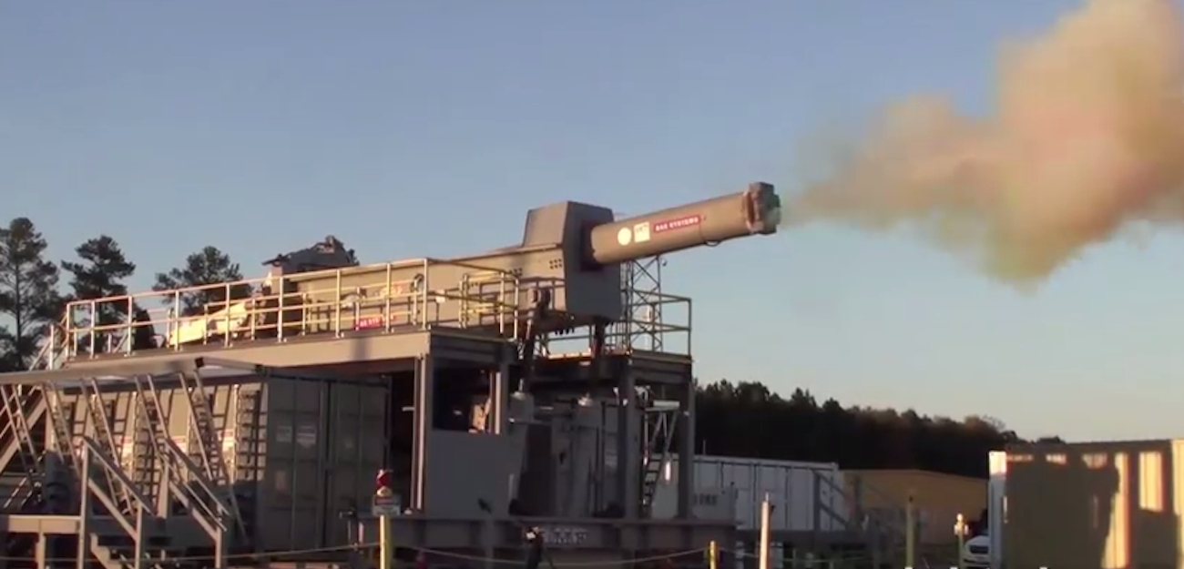 Began testing the rapid-fire railgun weapons
