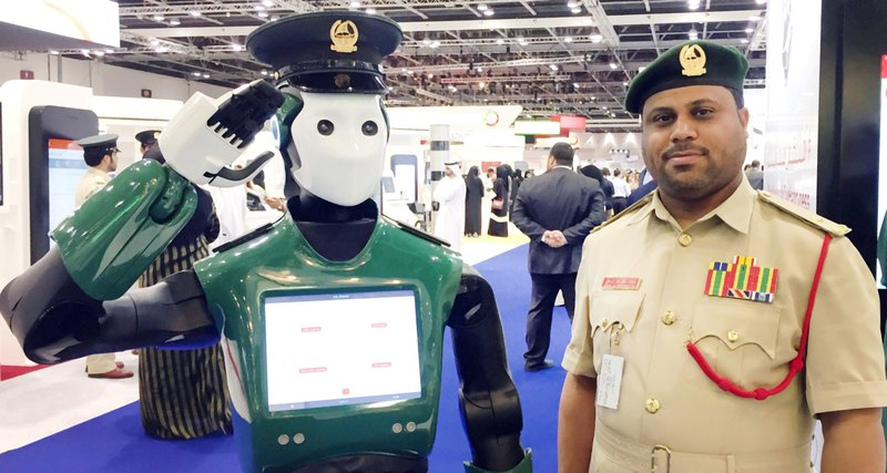 The world's first robot police officer started to work