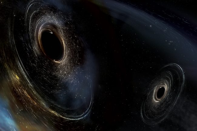 The third detection LIGO shown as double black holes