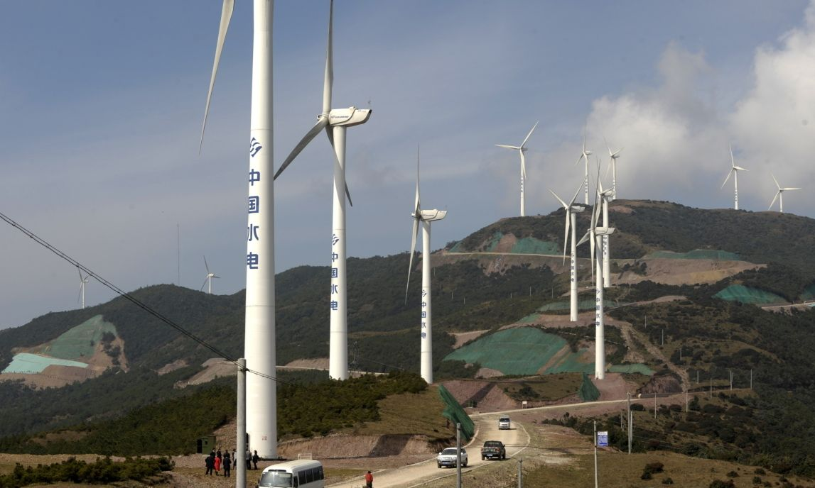 The Chinese province spent a week exclusively on alternative energy