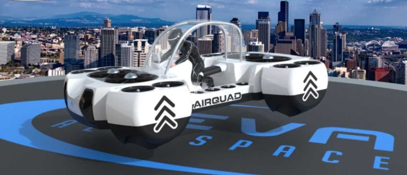 Presented AirQuadOne — personal flying kvadrobayk