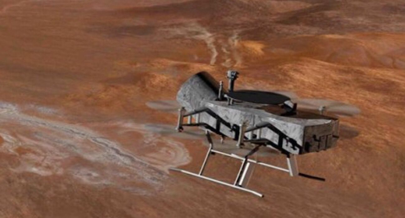 Dragonfly — UAV for exploration of Saturn's moon