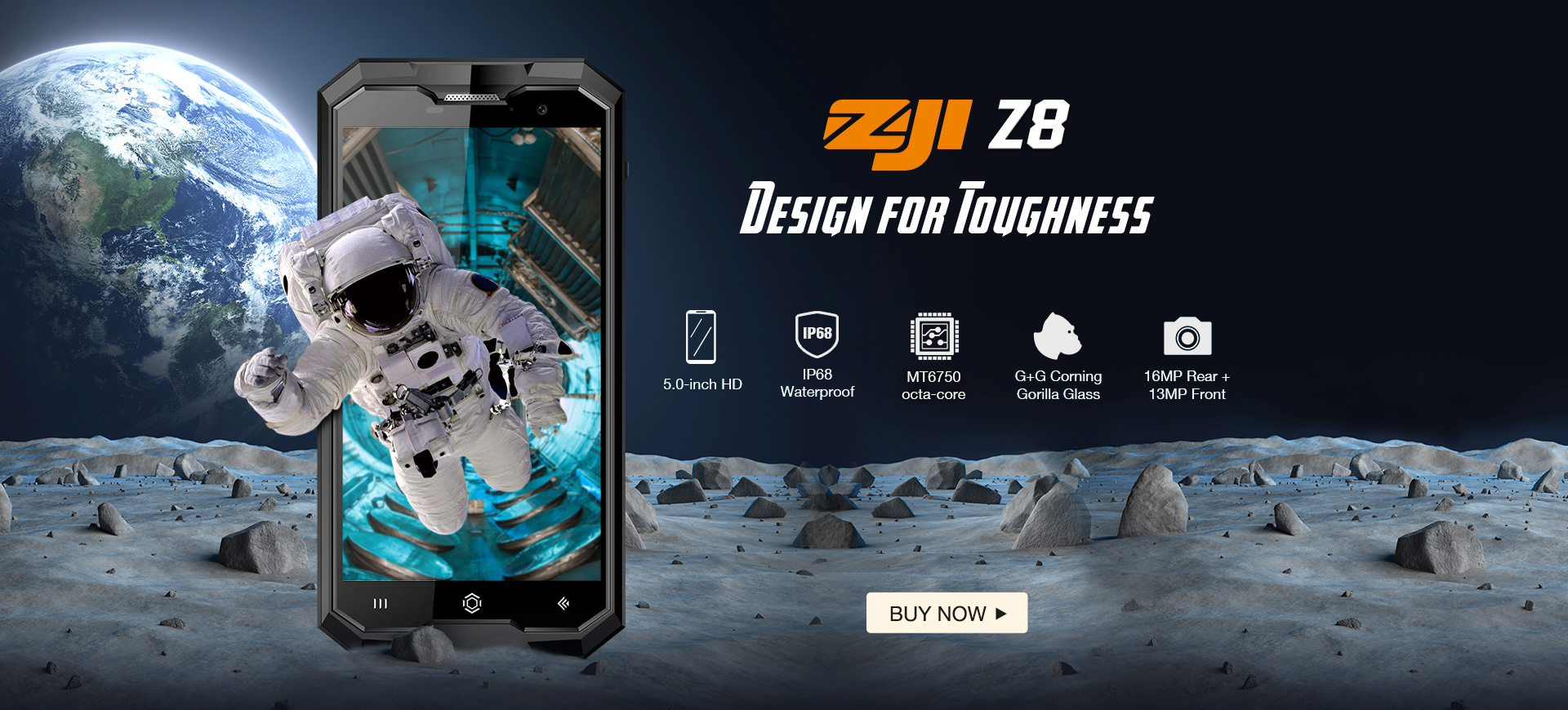 ZOJI Z8 — he's like Darth Vader, only smartphone