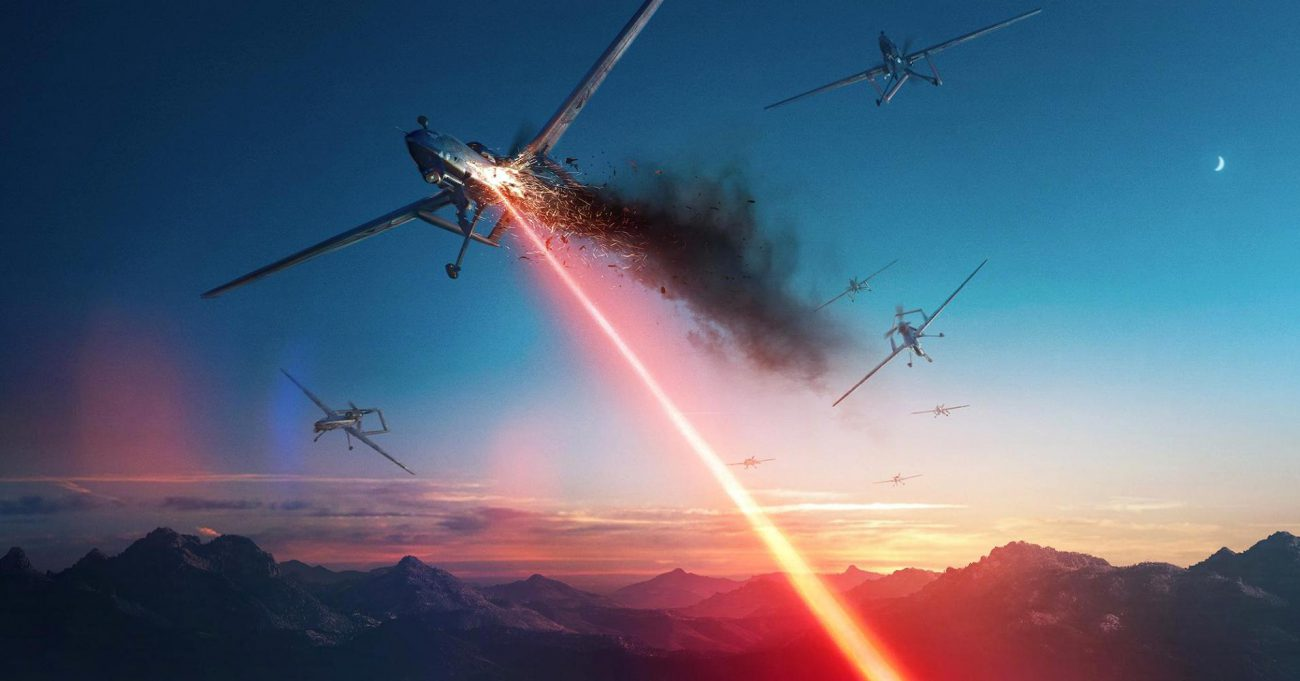 American military laser destroyed five drones