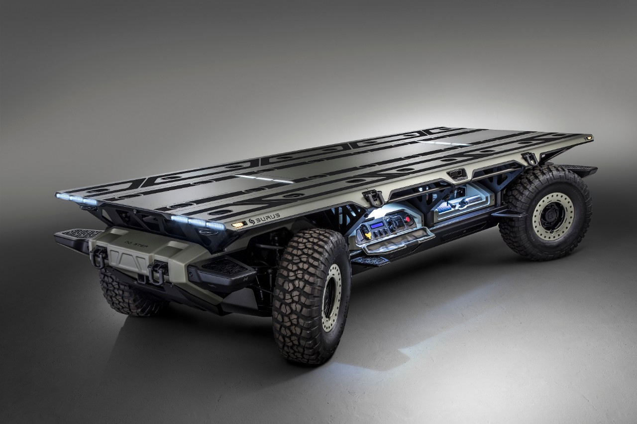 General Motors has developed an unmanned cargo platform on hydrogen