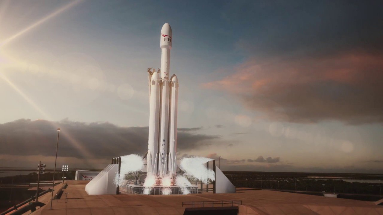 #video | SpaceX published a 3D animation of the upcoming launch of the Falcon Heavy