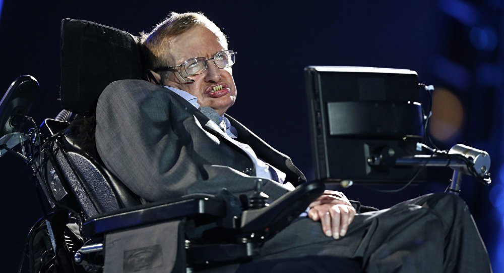 The voice of Stephen Hawking was sent into space