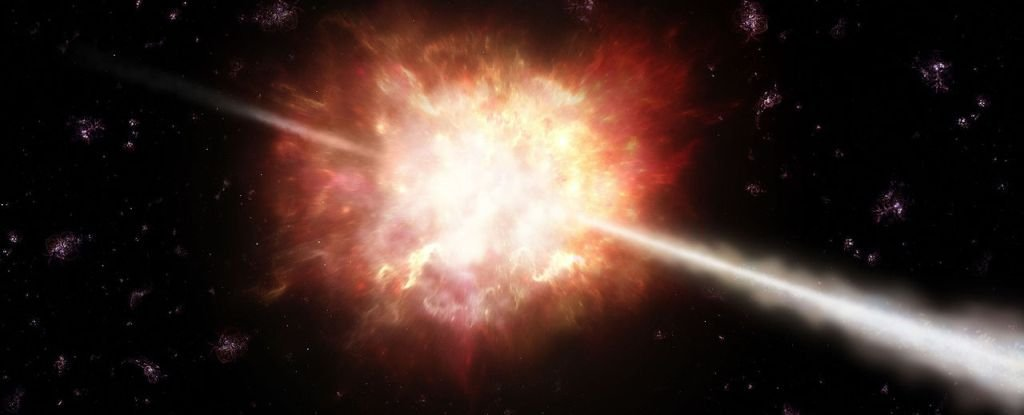 In cosmic gamma-ray flashes astrophysicists have spotted the