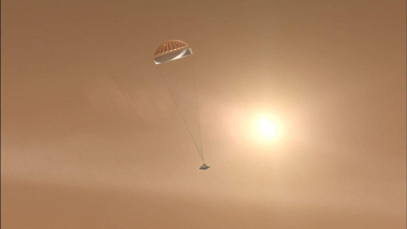 NASA tested a parachute for landing on Mars